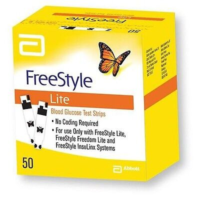 Freestyle Lite Blood Glucose Diabetic Testing Test Strips **BRAND NEW & SEALED**