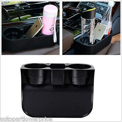 Car Seat Seam Wedge Phone Can Water Bottle Drink 2Cup Mount Holder Stand Storage