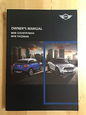 New Mini Cooper S  Works Paceman & Countryman English Owner's Manual 2012-15
