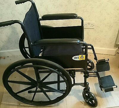 """Drive Medical 18"""" Self Propelled Steel Wheelchair with Mag Wheels"""
