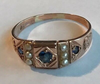Vintage Rose Gold Victorian Style Ring 9ct Gold Size P