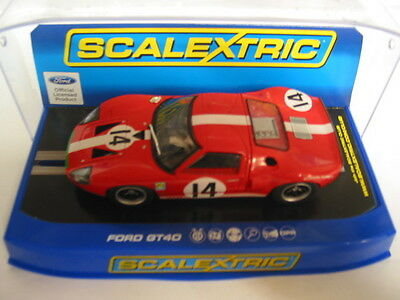 Scalextric C3630 Ford Gt40 1966 #14 Red  Dpr   Mint Boxed