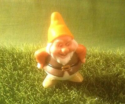 Fairy Garden Gnome With Yellow Hat And Fat Tummy