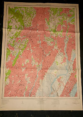 Large Paterson New Jersey Geological Survey Map
