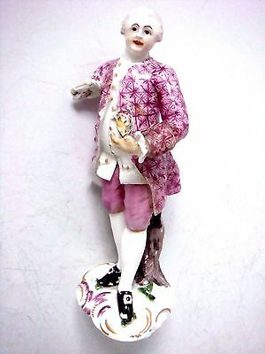 Hochst Porcelain Superb First Period Red Wheel Mark Figure Of A Gallant C1755