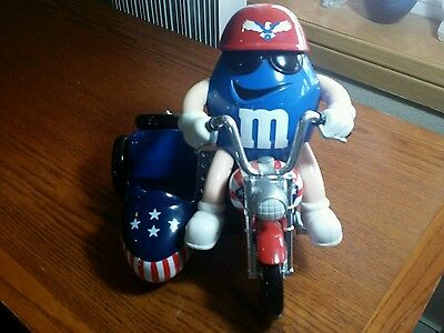 M&M's Candy Dispenser: Red White And Blue Motorcycle