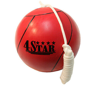 New Red Colors Tether Balls for Play Grounds & Picnics Included With Rope