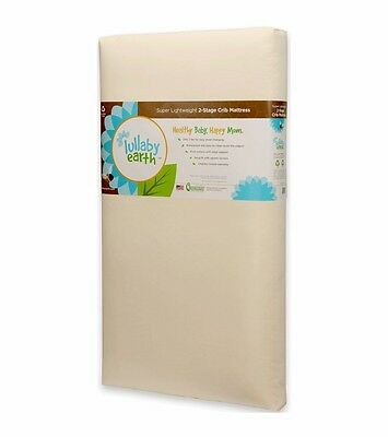 *BRAND NEW*open box Lullaby Earth Super Lightweight Crib Mattress 2-Stage -LE14
