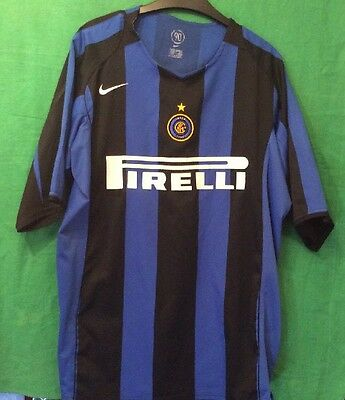 INTER Milan Football SHirt by Nike Size: Extra Large Authentic