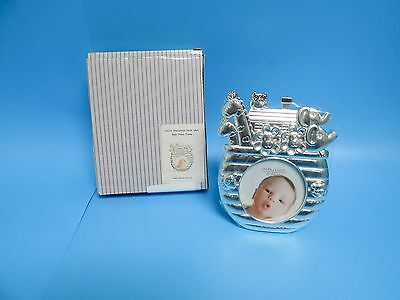 Juliana Noah's Ark Silver Plated Baby Nursery Photo Picture Frame