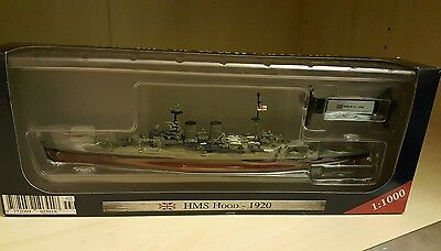 1/1000 HMS Hood 1920 model. Perfect Christmas present or stocking filler