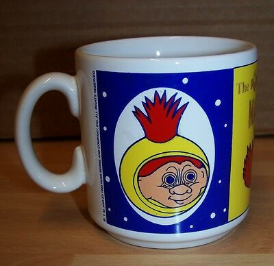 Vintage 1993 The Russ Magical World Of Trolls Collectable Rare Childs Mug