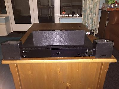 Pioneer xv-bd212 5.1 Blu-Ray Player Home Cinema System Speakers And Stands