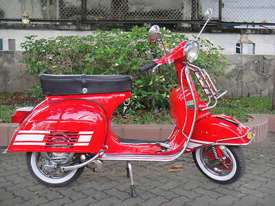 VESPA RALLY 200cc 1974's ELECTRONIC FULLY RESTORED FREE SHIPPING RED
