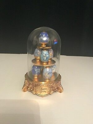 Franklin Mint House of Faberge Sapphire Garden with 8 eggs