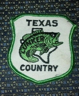 TEXAS LUNKER COUNTRY FISHING Sew-On Patch