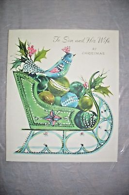 1950's Pop-Up Christmas Greeting Card used