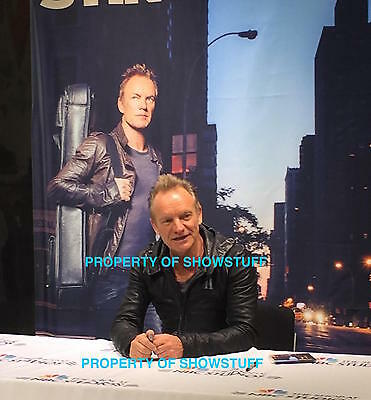 Sting Signed 57Th  And 9Th Signed Cd Ny 11/11/16 The Police Nbc Store Plus Pics