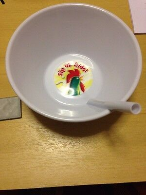 Collectable!! KELLOGG'S CEREAL CORN FLAKES BOWL with Straw - Brand New...!