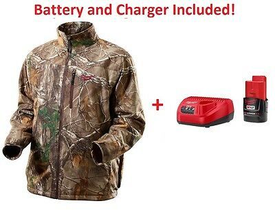MILWAUKEE 2393 Realtree Xtra Camo Cordless Heated Jacket/Battery/Charger Large