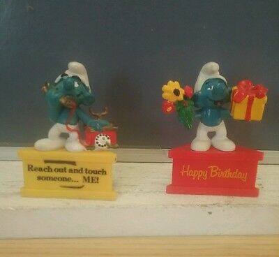 Vintage Smurf statues Lot of 2