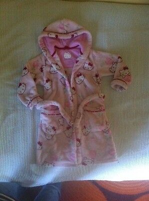 M&S! Girls Hello Kitty dressing gown 5-6 years