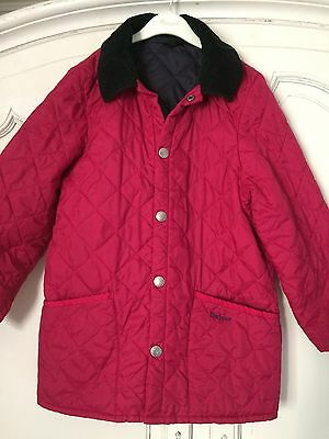 Girls Barbour Pink Jacket Age 10-11