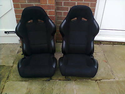 Pair of Sport Seats with Vinyl/Leather Trim In Excellent Condition