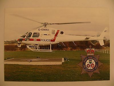 Helicopter Postcard EAST MIDLANDS POLICE SUPPORT UNIT  G-EMAU Plain back card
