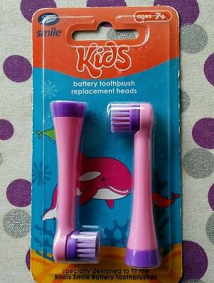 Boots Kids toothbrush replacement heads x2