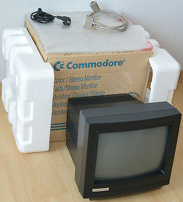 Commodore Amiga CDTV Monitor 1084S-D2 ~ OVP/BOXED ~ funktioniert/WORKS ~ SGZ/VGC