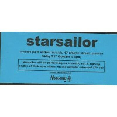 STARSAILOR Instore P.A. Action Records FLYER Small Black And Blue Flyer For