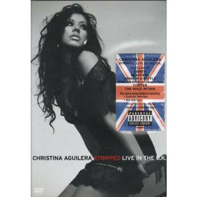 CHRISTINA AGUILERA Stripped Live In The Uk DVD 16 Track Pal Region 2 Live