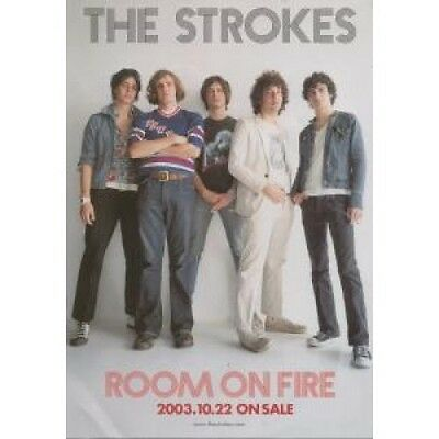 STROKES Room On Fire FLYER Approx 22Cm X 15Cm Full Colour Promo Foldout Flyer