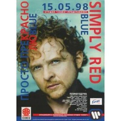 SIMPLY RED Blue FLYER A4 Size Full Colour Promo Flyer For Russian Release Of