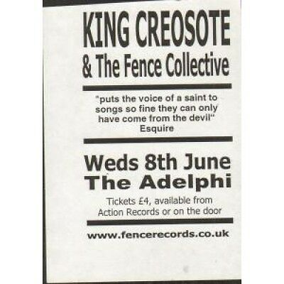 KING CREOSOTE AND THE FENCE COLLECTIVE Adelphi 8Th June FLYER Tiny Black