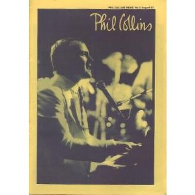 PHIL COLLINS News 2 FANZINE 10 Page A5 Black And White Fanzine With Yellow
