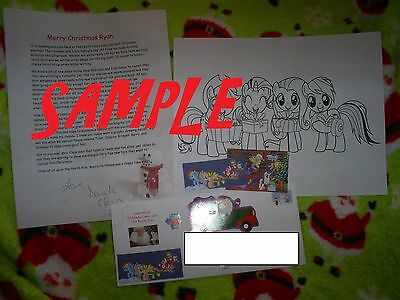 Personalized Christmas letter from Santa with MY LITTLE PONY gifts