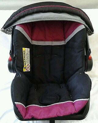 Baby Trend Infant Baby Car Seat Cover Cushion+Canopy Pink/Black m