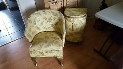 1940s kraft nursery chair and ottamen