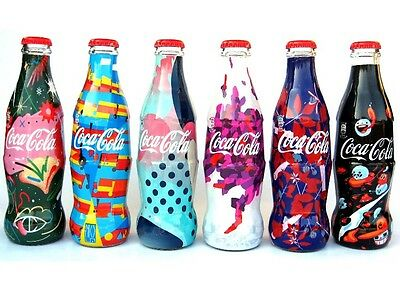 COCA COLA SET OF 6 bottles FASHION DESIGNER FROM SERBIA VERY RARE