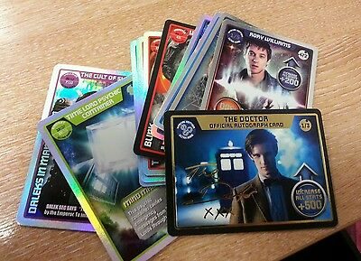 12 Ultra Rare. LIMITED EDITION CARDS DR WHO MONSTER INVASION ULTIMATE CARD LOT