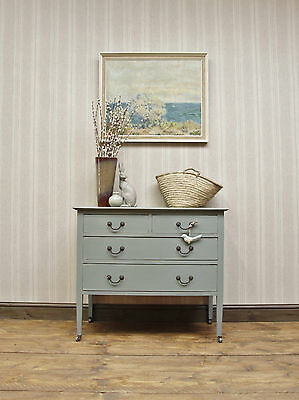 Antique Painted Chest of Drawers, Waxed Khaki, Colour Statement Piece