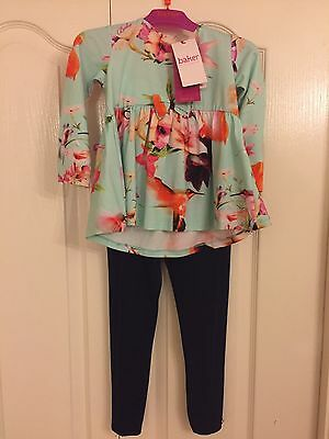 Ted Baker Baby Girls Floral Tunic And Leggings Set. 12-18 Months. BNWT. Designer