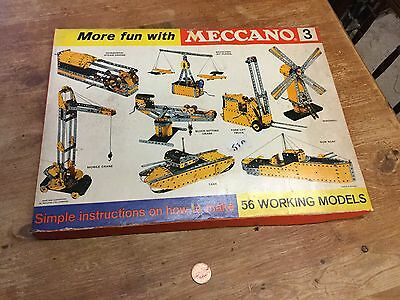 Old Vintage Complete Boxed Meccano 3 Working Vehicles VGC
