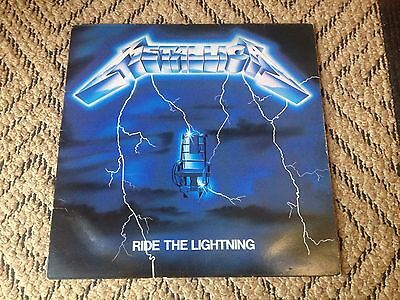 Metallica Ride the Lightning Original Vinyl LP Thrash Metal Slayer Megadeth