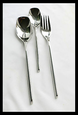 3 Piece Cutlery Stainless Steel Serving   Fork, Spoon Set 001