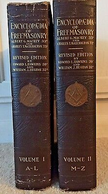 Vintage Masonic History Books Encyclopedia of Freemasonry 2 Vol. Set 1927 Mackey