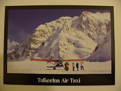 Airline Issue Postcard TALKEETNA AIR TAXI De Havilland Beaver