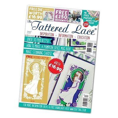 Tattered Lace Magazine Issue 34 + Evelyn Die + 16 Papers - New